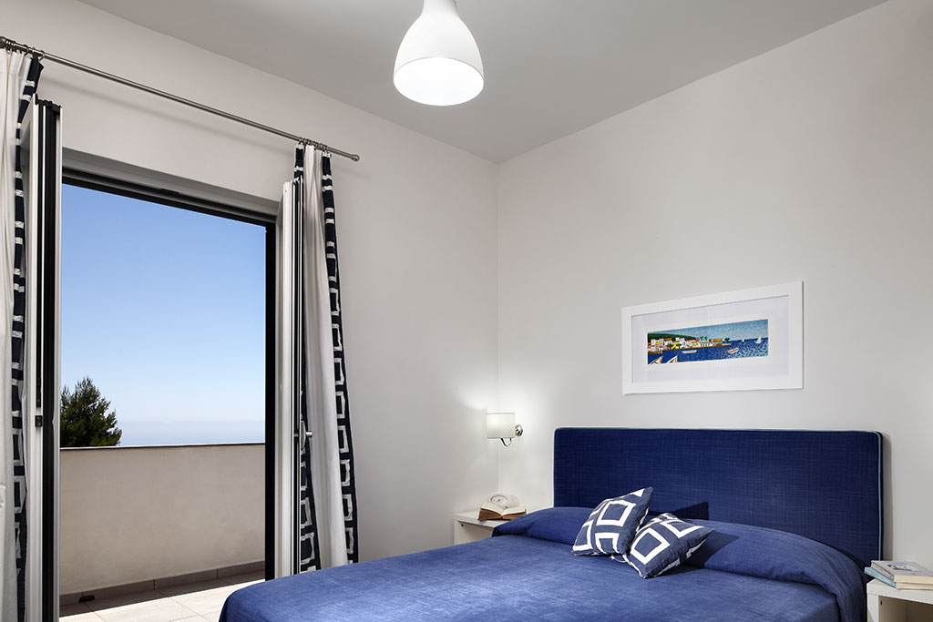 double bedroom with panoramic sea view balcony