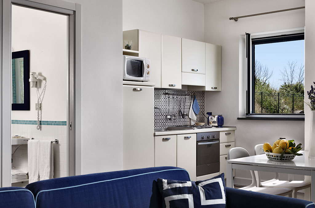 fully equipped kitchenet with view, aida apt